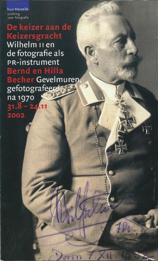 Voorzijde van folder fototentoonstelling gewijd aan keizer Wilhelm II in Huis Marseille (2002)