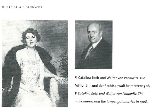 Catalina Roth en echtgenoot dr. Walther von Pannwitz, getrouwd in 1908