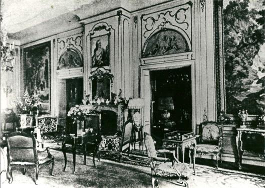 Interieurfoto van de Gouden salon op de Hartekamp