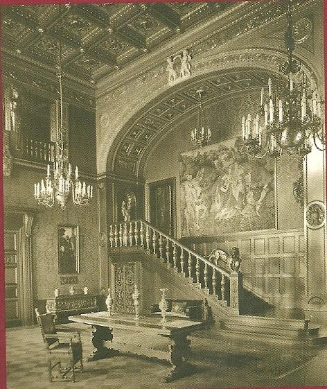 De hal van Palais Pannwitz [nu Schlosshotel Grunewald] in de jaren 1910-1920
