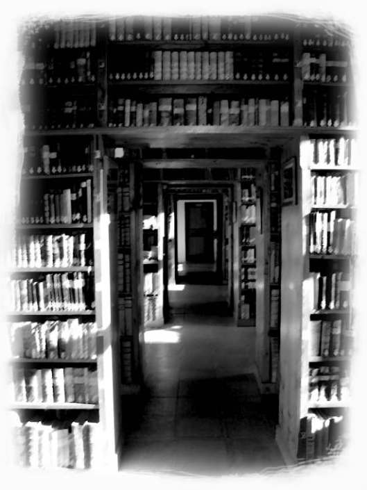 Bibliotheek in Franciscanerklooster van Schwaz