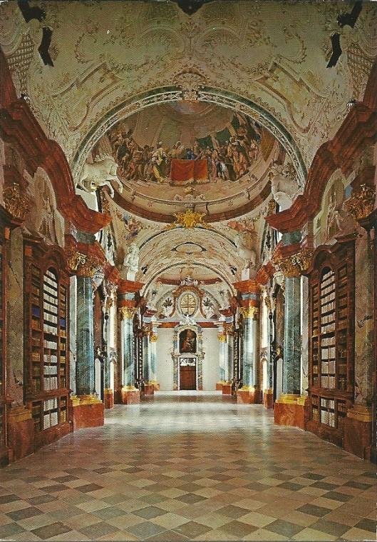 Stift Altenburg Bibliothek. Gezicht naar het noorden.
