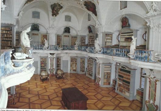 Kloosterbibliotheek Sankt eter, Duitsland