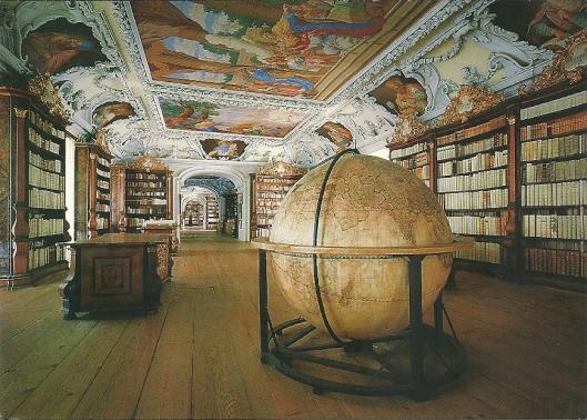 Benediktinerstift Kremsmünster. Pronkzaal. Carlo Antonio Carlone, circa 1680. Bevat grote wereldglobe