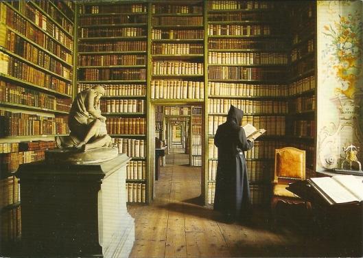 Erzabtei St. Peter, Salzburg. Bibliotheek. Wordt beschouwd als het oudste klooster in het Duitse taalgebied.