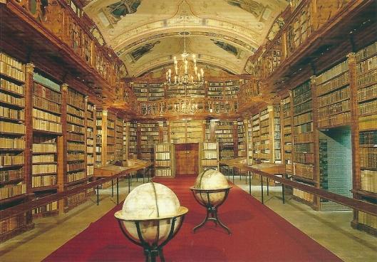 Stiftsbibliothek Schlägl; Prämonstrtenser Chorherrenstift Schlägl, Aigen im Mühlkreis. Kloosterbibliotheek uit 1829