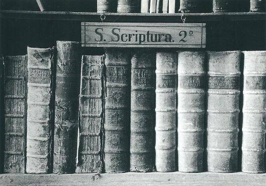 Boeken op een kaart uit de kloosterbibliotheek van Seckau (foto P.Severin Schneider)