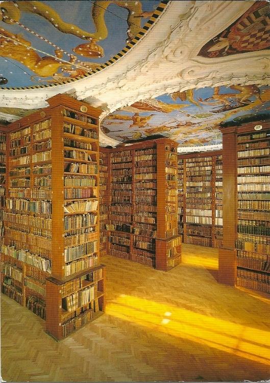 Benediktinerstift St. Paul im Lavanttal. Bibliotheek uit 1683. Bevat o.m. van Ambrosius 'De Fide Catholica' uit de 5e eeuw.