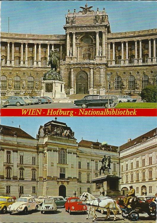 Wien Hofburg Nationalbibliothek aan de Josefsplatz. Gesticht als hofbibliotheek in de 14 eeuw.