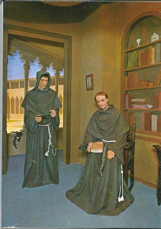 Pater Junipero Serra, Spaans evangelisator in Californië. Schilderij in Museo Historial de Mallorca