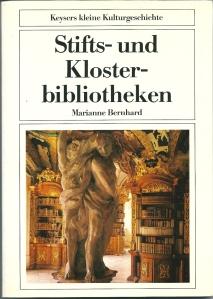 Voorzijde boek van Marianne Bernhard met interieurfoto van kloosterbibliotheek in Metten (Niederbayern)