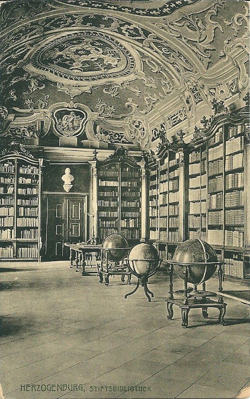 Interieur van kloosterbibliotheek Herzogenburg op een ansicht uit 1964
