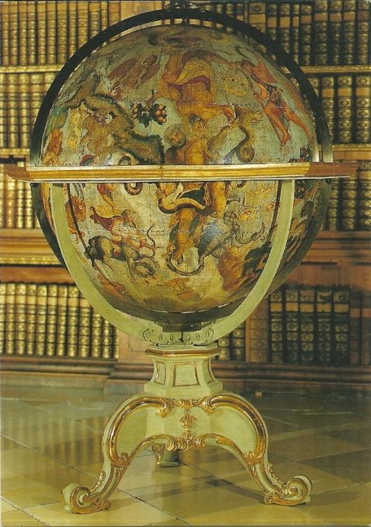 Hemelglobe in klooster van Melk, in 1692 vervaardigd door Vincenzo Coronelli