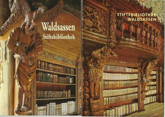 Voorzijde van 2 gidsen Stiftsbibliothek Waldsassen. Links van Peda-Kunstführer, rechts van Verlag Schnell & Steiner