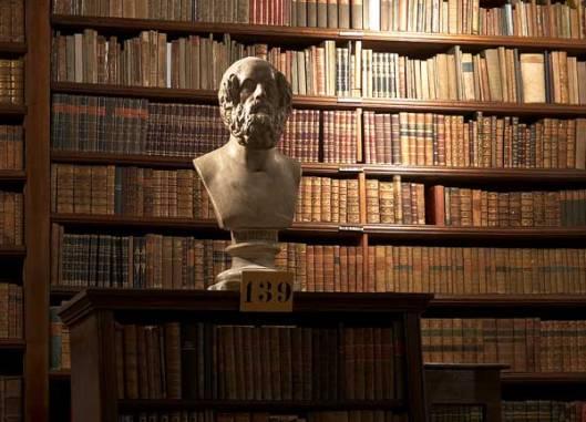 Het Schottenklooster  in Wenen is in 1155 gesticht ende bibliotheek is een van de oudste van Wenen