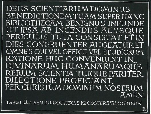 Tekst in een Beierse kloosterbibliotheek