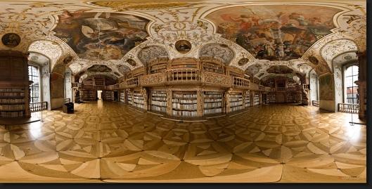 Panoramafoto bibliotheek Waldsassen