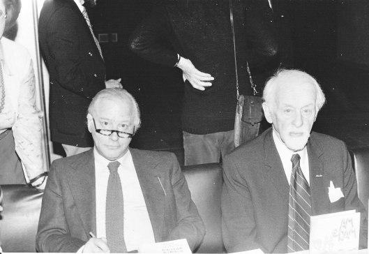 Michel van der Plas en romancier Siegfried E.van Praag (foto F.van der Voordt)