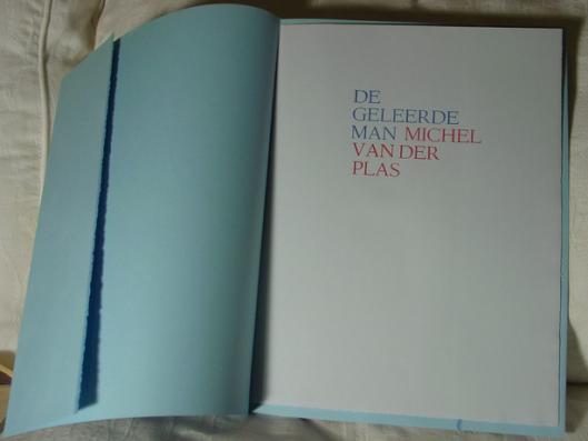 Voorzijde van bibliofiele uitgave 'De Geleerde Man' (1986)