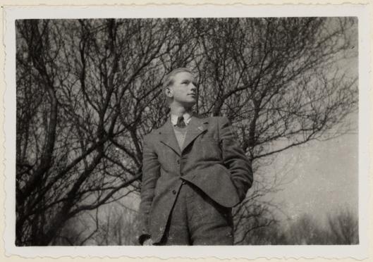 Een jonge Ben Brinkel als student op Hageveld