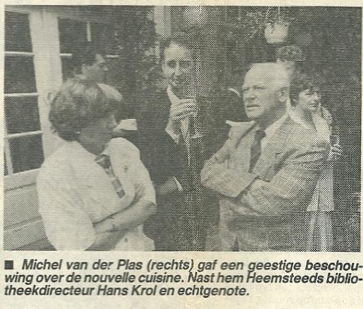 Uit de Koerier van mei 1987 bij gelegenheid van 70-jarig jubileum van restaurant landgoed Groenendaal