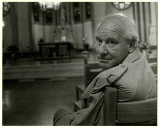 Michel van der Plas in de Sint Agneskerk in Den Haag, 1985.