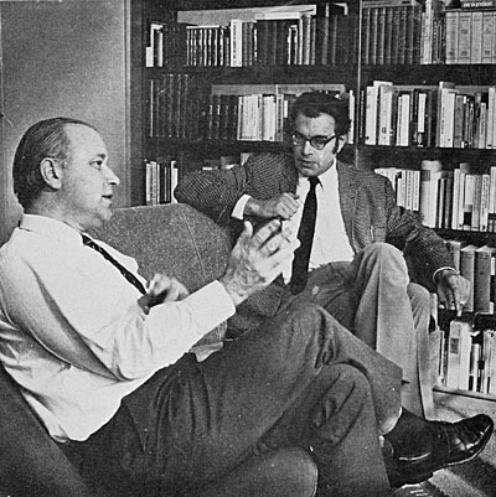 Michel van der Plas in gesprek met zijn vriend Godfried Bomans (In de kou)