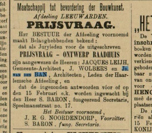Uit: Leeuwarder Courant van 30 januari 1893