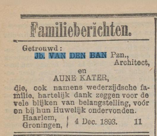 Uit: Rotterdamsch Nieuwsblad van 6 december 1893
