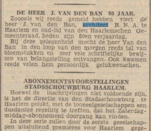 Uit: Haarlem's Dagblad van 28-12-1940