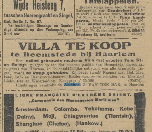Uit: Algemeen Handelsblad van 19-10-1912