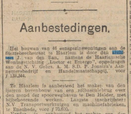 Uit: Algemeen Handelsblad van 20 april 1928