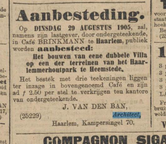 Uit: Algemeen Handelsblad van 22 augustus 1905