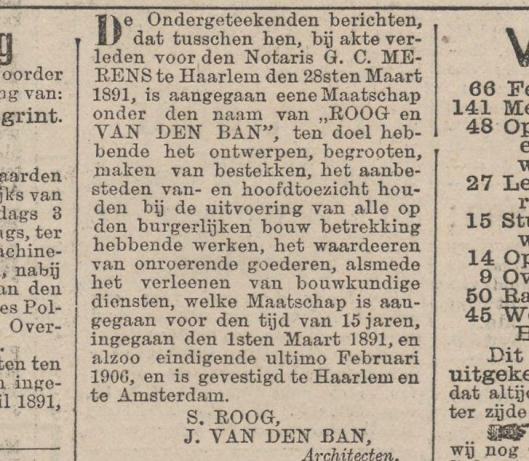Uit: Het Nieuws van den dag van 9 april 1891.