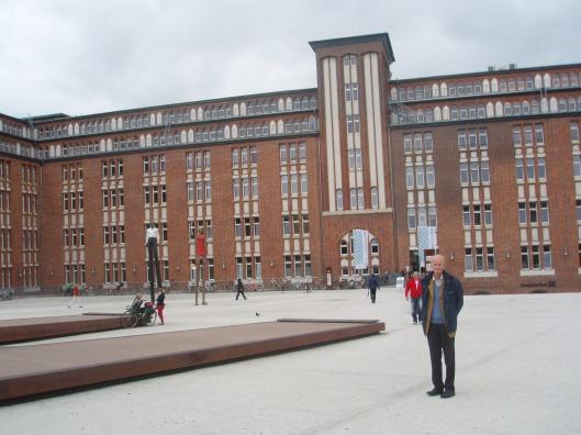 Voorzijde centrale stadsbibliotheek Hamburg