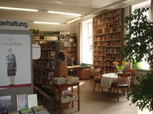 Interieur van deze volksbibliotheek in Lübeck