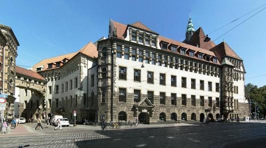 Overzicht van de centrale stadsbibliotheek, Forum am Wall, Bremen
