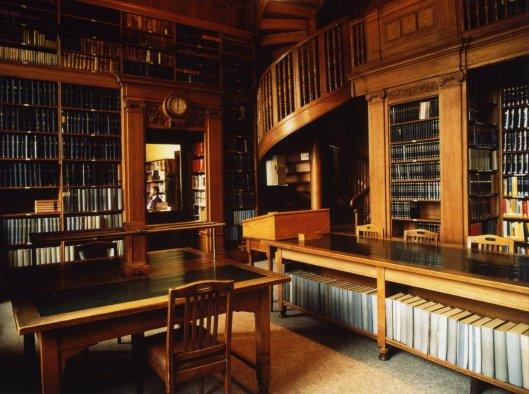 Bibliotheek in het 'Hanseatisches Oberlandesgericht', Hamburg