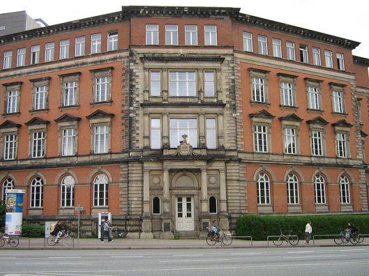 Huidige gebouw van de staats- en universiteitsbibliotheek Hamburg