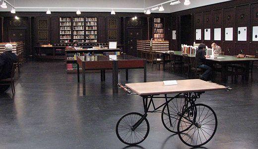 Bibliotheek in de 'Kunsthalle' , Hamburg