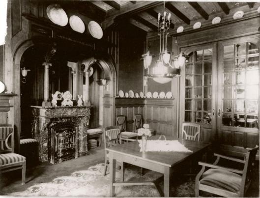 Eetzaal villa 'Lommerrijk', Wilhelminalaan Heemstede (J.van den Ban)