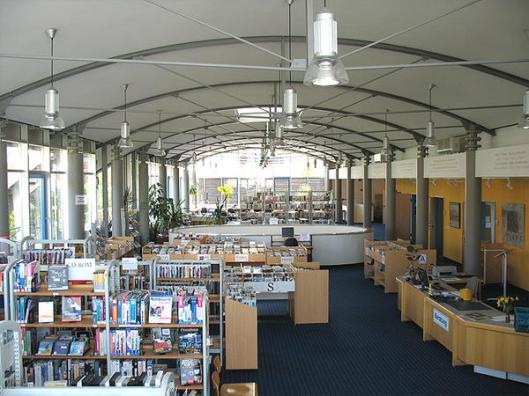Interieur stadsbibliotheek van Merseburg