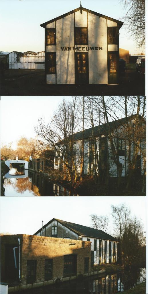 Drie foto's van bollenschuur vh. Van Meeuwen aan de Manpadslaan Heemstede (Marcel Bulte, 2000)