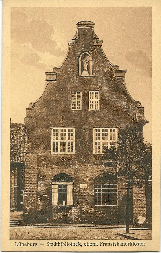 Lüneburg: Ratsbücherei = Stadsbibliotheek, gevestigd in het voormalige Franciscanerklooster