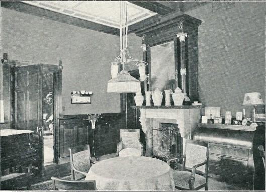 Woonkamer van villa Louise in Bloemendaal