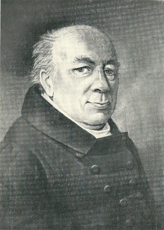 Portrettekening Friedrich Wilhelm Rönnberg (1771-1833). Hij reorganiseerde in 1830 naar het voorbeeld van Göttingen de universiteitsbibliotheek in Rostock [Heinrich Roloff: Beiträge zur Geschichte der Universitätsbibliothek Rostock im 19. Jahrhundert. 1955}