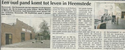 Bericht over nieuw gebruik van een voormalige bollenschuur. De Heemsteder, 4-1-2008