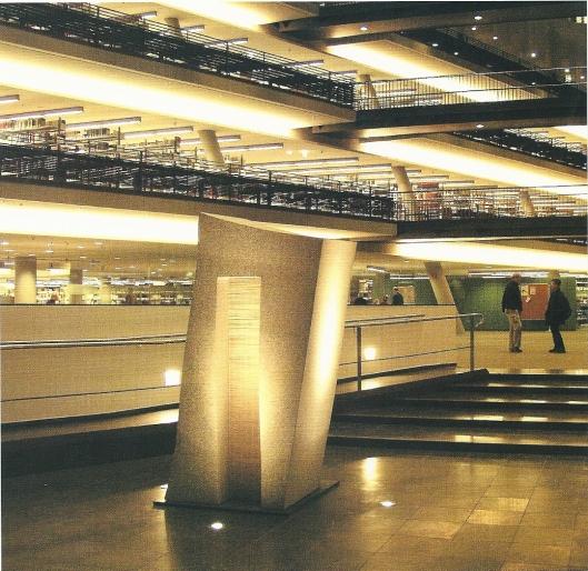 Foto uit: Neubau Universitätsbibliothek Greifswald. 2001.
