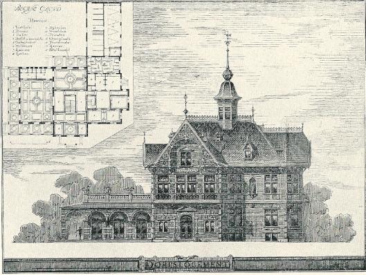 Bekroond ontwerp J.van den Ban prijsvraag Genootschap Architectura et Amicitiae, 1884