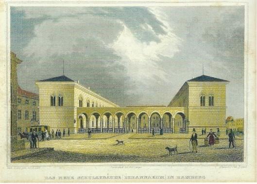 De oude stadsbibliotheek, voorganger van de huidige Staats- en Universiteitsbibliotheek Carl von Ossietzky bevond zich in het schoolgebouw van het Johanneum